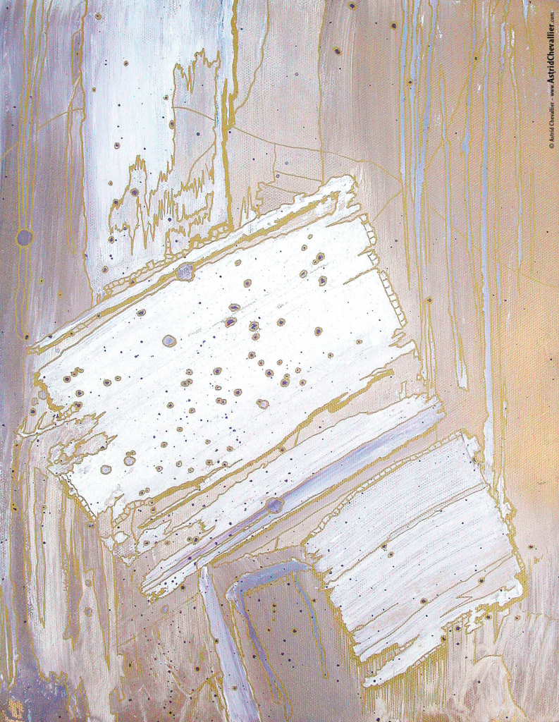 Astrid Chevallier - Goldissime White 3 - 11 x 14 in. / 28 x 35.5 cm