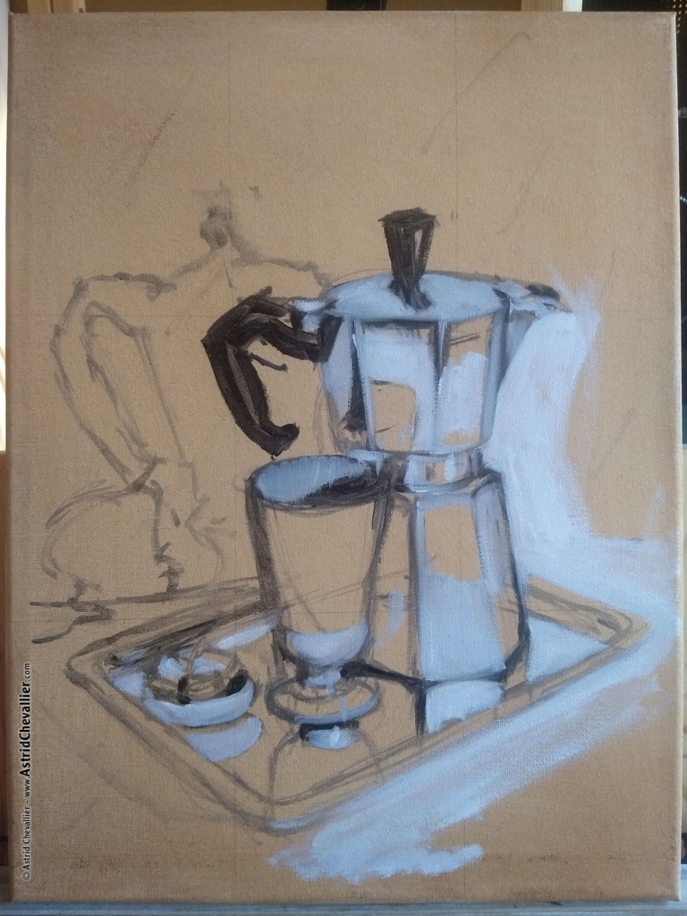 """Making-of """"Coffee Time"""" by Astrid Chevallier"""